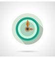 Flat color wall clock icon vector image