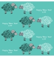 Seamless christmas pattern with sheeps vector image