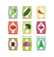 Set packs chips Packaging unusual flavour coffee vector image