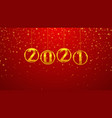 2021 happy new year background vector image vector image