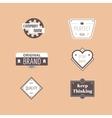 Abstract vintage logo design elements set vector image