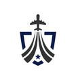 aircraft navigation shield logo vector image vector image