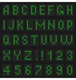 Alphabet and numbers of light vector image vector image