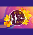 autumn sale banner with hand drawn vector image vector image