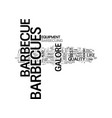 barbecues galore text word cloud concept vector image vector image