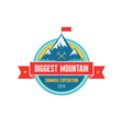 Biggest Mountain - Summer Expedition - logo vector image vector image