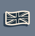 black flag great britain icon isolated on grey vector image vector image