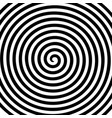 black white round abstract vortex hypnotic spiral vector image
