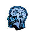 brain scanning imaging side vector image vector image