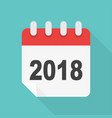 calendar icon 2018 years in flat style vector image vector image