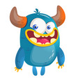 cartoon blue monster vector image vector image