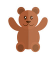 cartoon teddy bear toy object for small children vector image vector image