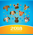 chinese new year greeting card 2018 year vector image