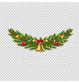 christmas garland isolated transparent background vector image vector image