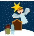 Christmas manger characters vector image