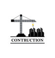construction industry logo vector image