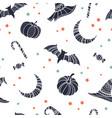 creative halloween seamless pattern hand drawn vector image vector image