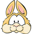 cute bunny head isolated on white background vector image vector image