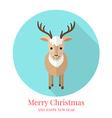 Cute deer Flat style vector image vector image