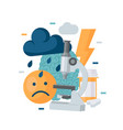 depression concept in simple flat style vector image