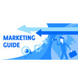 describing marketing guide and looks vector image vector image