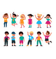 emotional kids cute boys and girls afraid vector image vector image