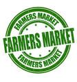 farmers market grunge rubber stamp vector image