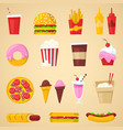 fast food nutrition american hamburger or vector image vector image