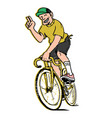 fixed gear vector image