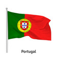 flag portuguese republic vector image