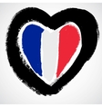 France grunge flag vector image vector image