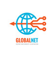 global net - digital world - business logo vector image
