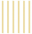 gold chain vertical stripe seamless pattern vector image