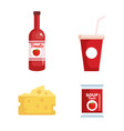 group of food products vector image vector image