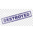 grunge destroyed rectangle stamp vector image