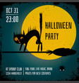 halloween party poster editable banner design vector image
