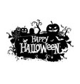 happy halloween typographic banner vector image
