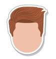 head face man isolated icon vector image