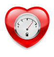 Heart with fuel indicator vector image vector image