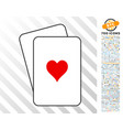 hearts suit cards with bonus vector image vector image