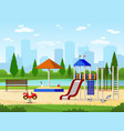 kids playground city park playground leisure vector image vector image