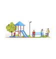 man smoking at children playground semi flat rgb vector image vector image