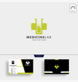 medicine cross laboratory logo template with vector image