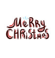 merry christmas phrase vector image vector image