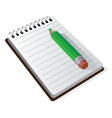 Notepad Design vector image vector image