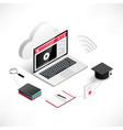 online education banner cloud vector image vector image