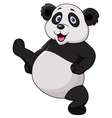 Panda cartoon doing martial art vector image