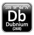 Periodic table element dubnium icon vector image vector image
