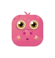 Pig Square Icon vector image vector image