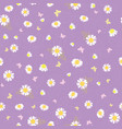 purple white daisies ditsy seamless pattern vector image